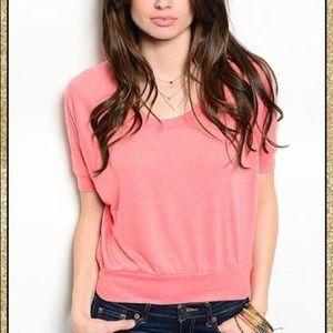 Tops - 'So Sweet' Pink Crop Top